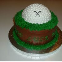 "Golfcake.jpg I was inspired by a fellow user on CC by the name of ""fytar"". I saw her cake when I looked up golf cakes for ideas. This cake was..."