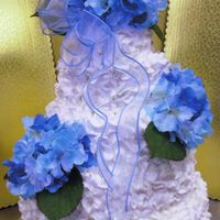 Val's Wedding Cake yes, I used a rose tip for the ENTIRE cake. Thought it was a cool effect and matched the flowers.