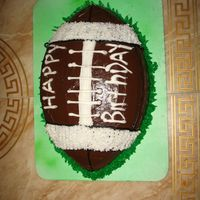Football first time smoothing football cake!!!!!