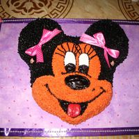 Minnie Mouse ok here goes another monnie mouse I actually have a customer who loves minnie mouse. I really like the ribbonsyellow cakes with bc, purple...