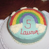 Wilton Course 1: Over The Rainbow I wanted to pitch this cake over the rainbow by the time I finished. My icing came out great for the colors, very smooth, but then I made...