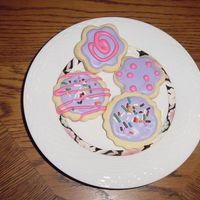 No Fail Cookies With Royal Icing. No Fail Sugar cookie recipe with Royal Icing. My first time so I played around with it and made a few cookie treats on sticks with my kids...