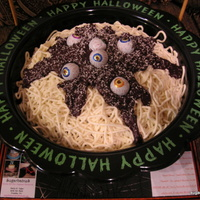 Spaghetti And Eyeballs my daughters elementary school had their annual fundraising carnival friday and i donated this. these cakes are so incredibly easy to do,...