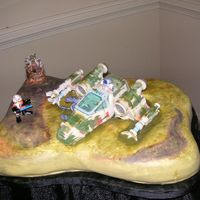 Star Wars Dagobah Swamp Scene elaborate cake originally planned for our friends grooms cake, but that design fell through only hours before we had to leave for the...