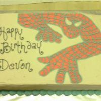 Spiderman Cake Layers of chocolate fudge and vanilla butter cake, filled and iced with Indydebi's buttercream. The image is from coloring pages on...
