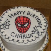 Spiderman Birthday Cake The customer wanted a very small cake, but also a Spiderman theme. This is what I came up with. I wish the pic had turned out better. The...