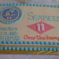 Seabee's Cake I donated this cake to the U.S. Navy Seabee Detachment on our base. They're here for a 6 month deployment and they were celebrating...