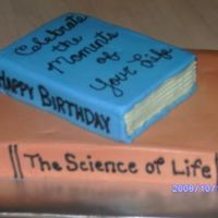 Science Book Birthday Cake