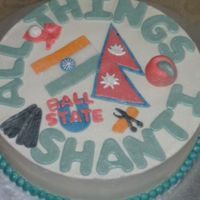 All Things Cake The request for this cake was that it include the words and the items that reflect the life and personality of the recipient. These include...