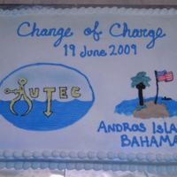 Change Of Charge Sheet cake for a Navy Change of Charge ceremony. The logo was a FBCT, but i had a little trouble with it. In the end it all looked OK, not...