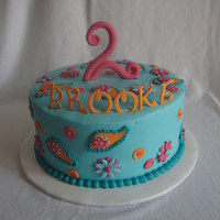Applique Paisley cake to match invites