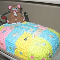 Baby Blanket With Teddy Bear   Same cake, different view