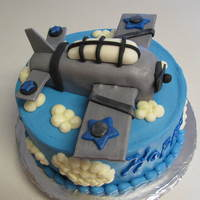Airplane Cake  For a friend..she said some type of old looking war plane...The cake was carrot with Decorator's Cream Cheese. Plane is RKT covered in...