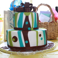 40 And Fabulous WASC Cake covered in BC, with fondant accents for my good friends birthday.