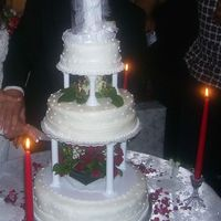 My First Wedding Cake I made this Wedding cake for Christmas eve wedding. I was so nervous since it was my first time. When I took the Wilton classes I never...