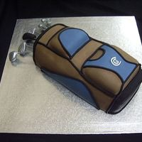 Golf Bag Cake This Golf bag cake was for my husbands birthday.