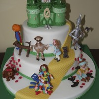 Wizard Of Oz Book Cake  This cake, made for my granddaughter, depicts a few of the many Wizard of Oz characters from the series of Oz books. Besides Dorothy, the...