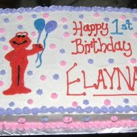 Elayna's Elmo Cake This is a cake I did for my friend Hilary's daughter. They postponed the party since I was out of town when they had it slated, so I...
