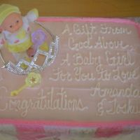 My Friends Baby Shower! This was a cake that I did for my friend Amanda. She was having a girl, just like she wanted! I had SO much fun making this! They were...