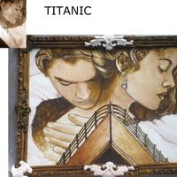 Titanic Cocoa Painting  This is my entry for the san diego cake show that is going to be this weekend. What do you think?, the frame is also edible. Not finished...