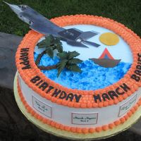 Joint Strike Fighter This is a cake I did for my husband's work. They are used to Costco cakes.
