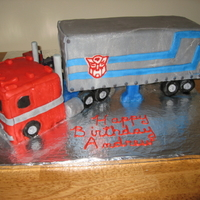 Optiums Prime made for my grandson's 5th birthday