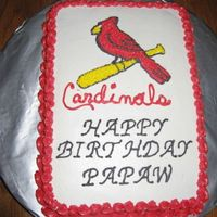 Cardinals buttercream icing