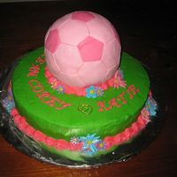 Soccer-Themed Bridal Shower This cake was made for a soccer-themed bridal shower