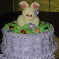 Bunny Cake I made this cake for Easter last year. The bunny is made of marshmallow fondant, using instructions from The Sculpey Way book (thanks...