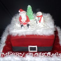 Christmas Scene  I made the snowman using Aine2 's tutorial (thanks Lorraine!) And santa using the Pastry wiz site. It was fun I haven't done a...