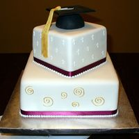 Graduation   This is a graduation cake for a paster who went back to school to get a masters in family counseling.