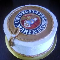 Marine Corps Grooms Cake I made this cake for a wedding this weekend. I hand modelled the emblem and the plaque. Not as precise as I wanted it to be but hopefully...