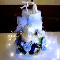 Cheyenne Wedding View 2 This is the cake I posted earlier except this picture has the topper on i it.