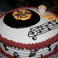 Rockin' 40's!! I made this cake for my cousin a music fanatic that just turned 40! The writing wasn't great, but this was my first attempt at a gum...