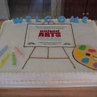 National Arts Cake This is a cake I did for the National Arts Program.