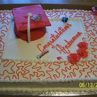 Graduation Cake Vanilla and Chocolate cakes with strawberry filling, Buttercrean and fondant accesories
