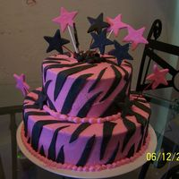 Zebra Cake   Vanilla cake with strawberry filling, This cake was for my niece who turned 10 last week. Thank you CC members for the inspiration.