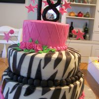 Zebra Cake Ii This cake was for my niece who turne 18. It was a last minute cake. Thank you CC for the inspiration