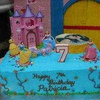 Princess Cake i made this cake for my princess 7th bday. Its a chocolate and mocha cake with rocky road filling