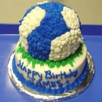 Blue & White Soccer Ball