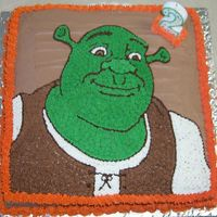 "Shrek My first ""character"" cake. I actually made 2 cakes this week, we had 2 parties because of family scheduling conflicts. The other..."