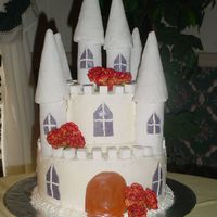 Castle Cake For Fairytale Theme Wedding Shower Thank you TexasMichele for the design! Your cake was my inspiration!