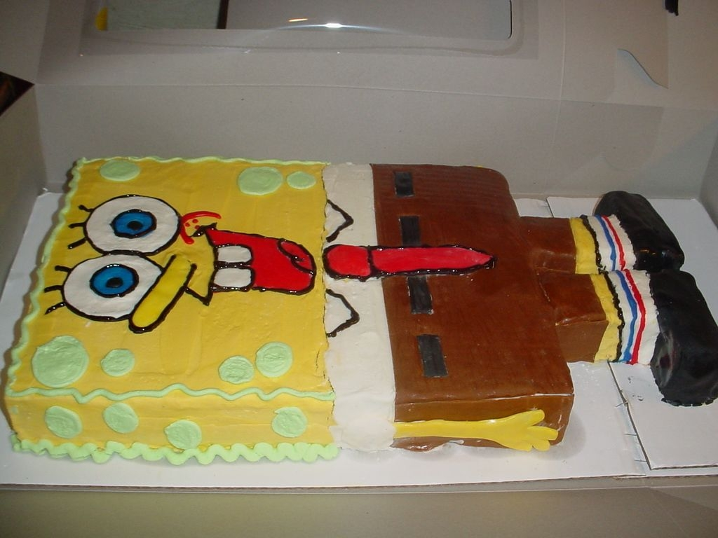 Spongebob Squarepants  I forget who inspired this one, but it was from this site. He was fun! I look forward to doing him again so I can work out the kinks in...