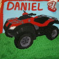 4 Wheeler   My son's 4th birthday. I wish the picture did the detail justice. It's hard to make out the detail on the tires especially.