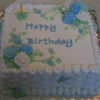 My Mother's Birthday 2007 This is my first non-child cake, my first try at feminine/floral and first try at basket weave. Her favorite flower is the carnation and...