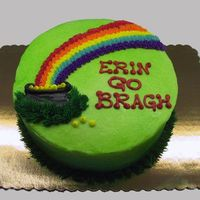 Irish Rainbow One of the display cakes: done in BC and airbrushed.