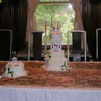 Calla Lily Wedding Cake This was both cakes together once they were set up at the reception, just before the ceremony.