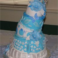 Symphony In Blue This was a cake I made recently for a friend of mine. Her sister was getting married and she was throwing an Alice In Wonderland themed...