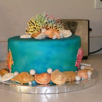 Under The Sea Theme This is a cake that I did for s project class that I am teaching in April. The cake uses fondant, airbrushing, molded gumpaste, hand...