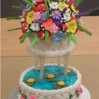 Advaced Flowers Class This is the end result of a class I teach fMichael's. The last class I taught I had one student and this was her final cake after 6...